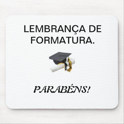 mousepad LEMBRANÇA DE FORMATURA