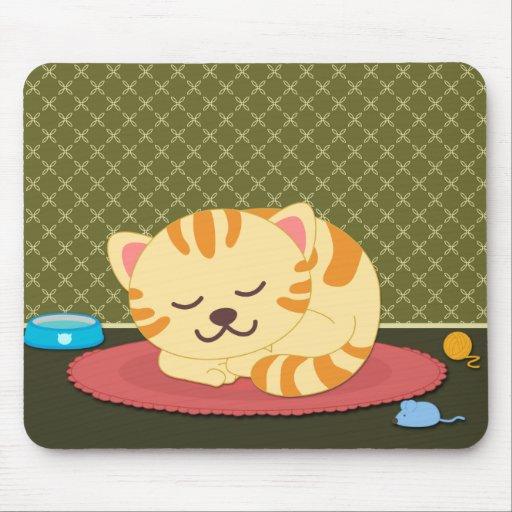 Mousepad lindo de la diversión del gato del gatito
