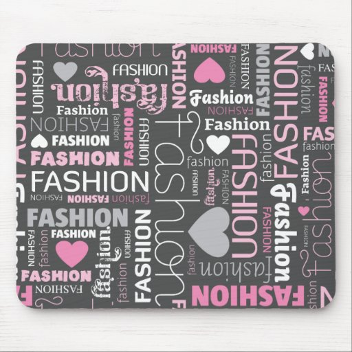 Mousepad lindo de la tipografía de la moda