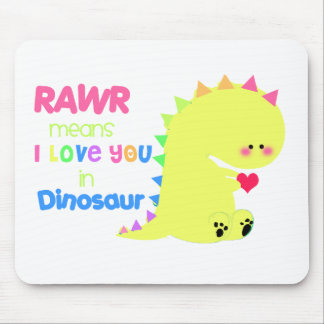 ¡mousepad lindo del dinosaurio! RAWR Alfombrilla De Raton