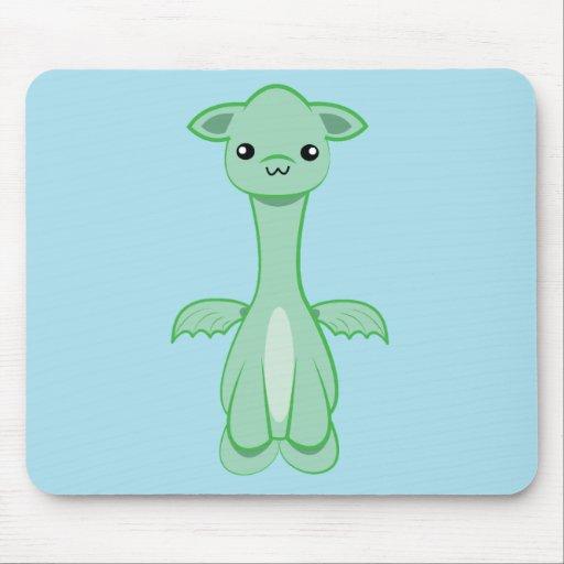 Mousepad lindo del dragón del bebé del kawaii