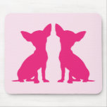 Mousepad lindo del perro rosado de la chihuahua, i alfombrilla de ratón