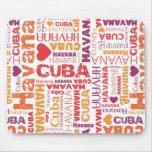 Mousepad lindo del souvernir de Cuba La Habana