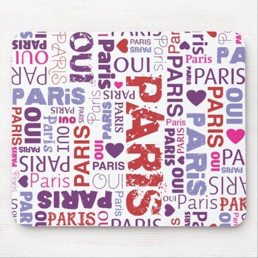 Mousepad lindo del souvernir de Francia París Alfombrillas De Raton
