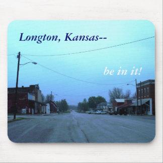 Mousepad: Longton, Kansas-- ¡esté en él! Tapetes De Ratones