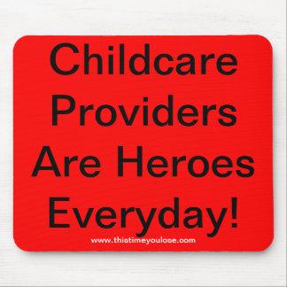 Mousepad. Los proveedores del cuidado de niños son Tapete De Raton