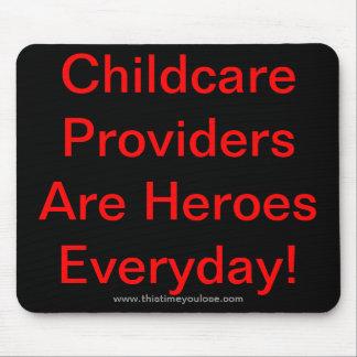 Mousepad. Los proveedores del cuidado de niños son Alfombrilla De Ratones
