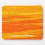Mousepad - luz y anaranjado oscuro rayados. tapetes de ratones