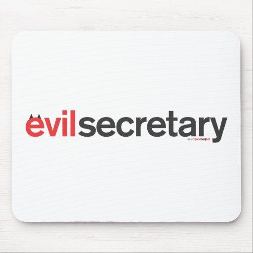 mousepad malvado de la secretaria