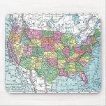 Mousepad:  Mapa de Estados Unidos, 1921 Tapete De Ratones