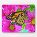 Mousepad margarita y de la mariposa de monarca ros alfombrilla de ratones