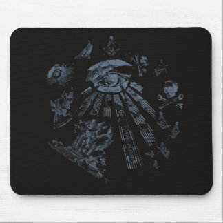 Mousepad Masonic Fantasy Blue