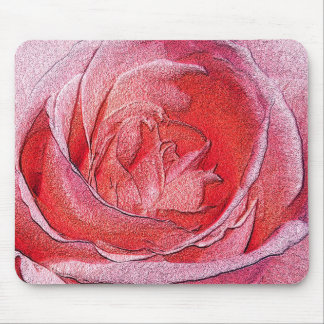 Mousepad - Materialized red rose