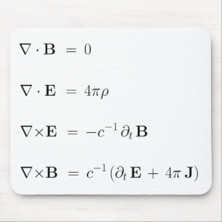 Mousepad, Maxwell's equations, white Mouse Pad