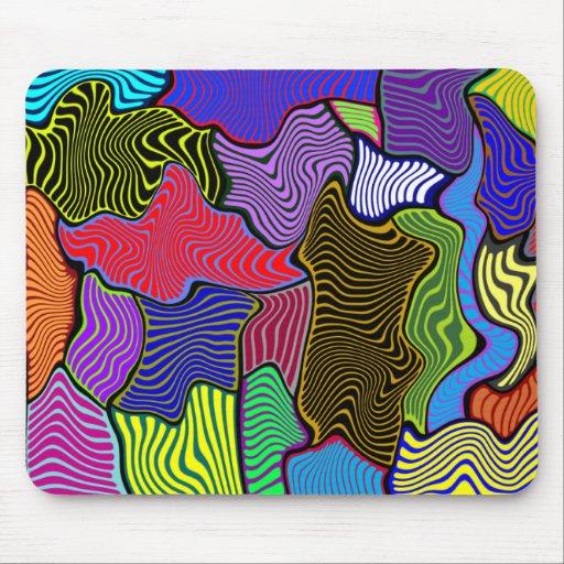 Mousepad modelado único colorido ondulado