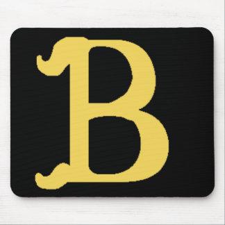 Mousepad Monogrammed Letter B (horizontal)