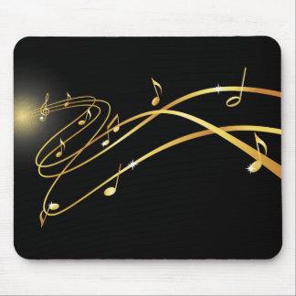 Mousepad musical de oro del flujo alfombrillas de raton