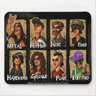 """Mousepad """"Musical Styles"""