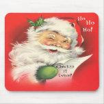 Mousepad, navidad Papá Noel del vintage Mouse Pad