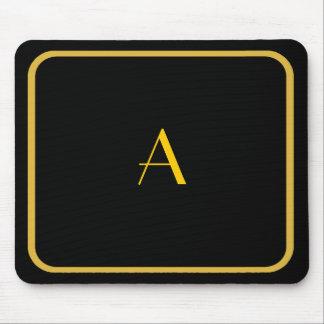 Mousepad negro barato con el marco y el monograma alfombrilla de ratones