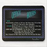 Mousepad-negro de las horas de oficina tapetes de ratón