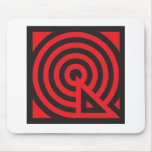 Mousepad negro rojo de Q Tapete De Raton