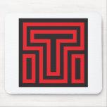 Mousepad negro rojo de T Tapete De Raton