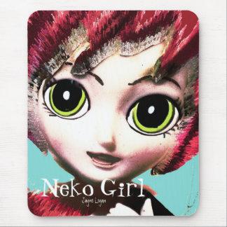 Mousepad, Neko Girl 1 (Digital Art) Mousepad