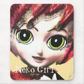 Mousepad, Neko Girl 2 (Digital Art) Mousepads
