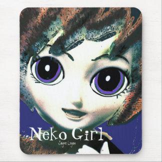 Mousepad, Neko Girl Tabi (Digital Art) Mouse Pad