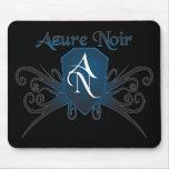 Mousepad Noir azul Alfombrilla De Ratones