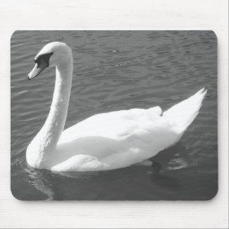 Mousepad o Mousemat - cisne en negro y blanco