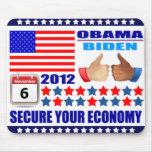 Mousepad - Obama/Biden 2012 - Secure Your Economy