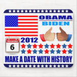 Mousepad - ObamaBiden 2012 - A Date With History