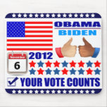 Mousepad - ObamaBiden 2012 - Your Vote Counts