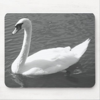 Mousepad or Mousemat - Swan in Black & White
