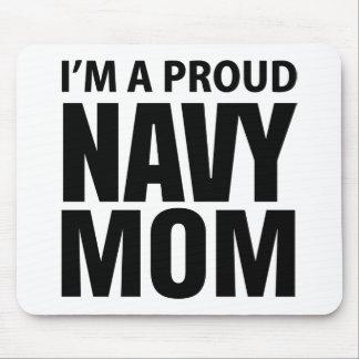 Mousepad orgulloso de la mamá de la marina de