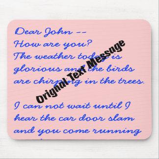 Mousepad - Original Text Message