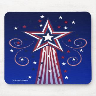Mousepad patriótico de las estrellas