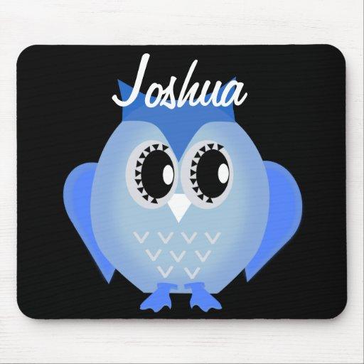 Mousepad personalizado búho azul tapetes de ratón