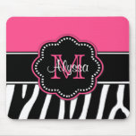 Mousepad personalizado estampado de zebra rosado alfombrillas de ratón
