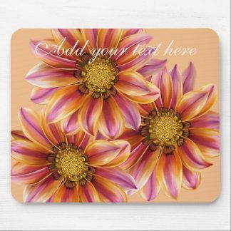 Mousepad personalizado flor anaranjado