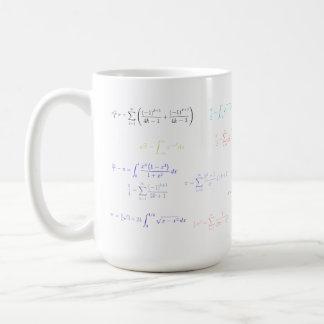 Mousepad - pi formulation classic white coffee mug