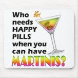 Mousepad - píldoras felices de los martinis v. alfombrillas de raton