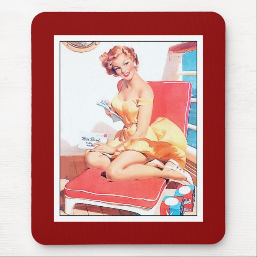 Mousepad Pin up Girls Art Vintage Retro Mousepad