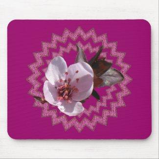 Mousepad - Plum blossom on medallian