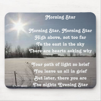 Mousepad Poem Morning Star By Ladee Basset
