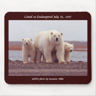 Mousepad / Polar Bear Female with Young
