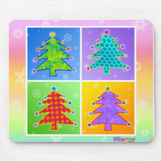 Mousepad - Pop Art Christmas Trees