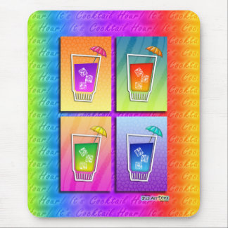 Mousepad - Pop Art Cocktails